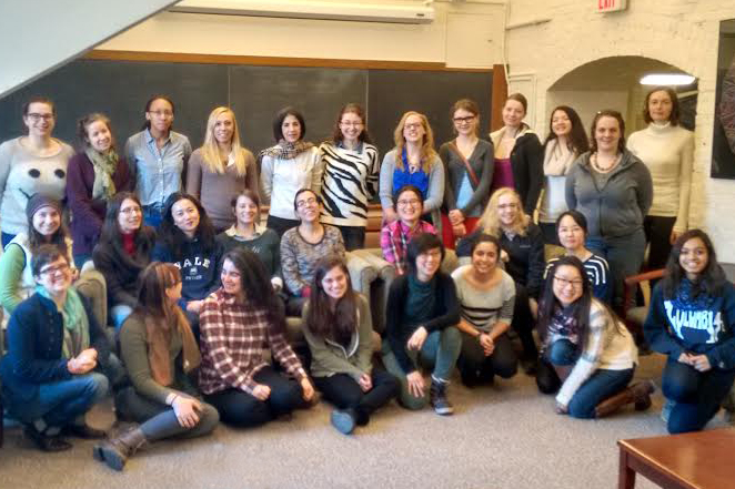 Lunch with Fabiola Gianotti and the grad, undergrad, post doc women in physics.  (2/25/15)