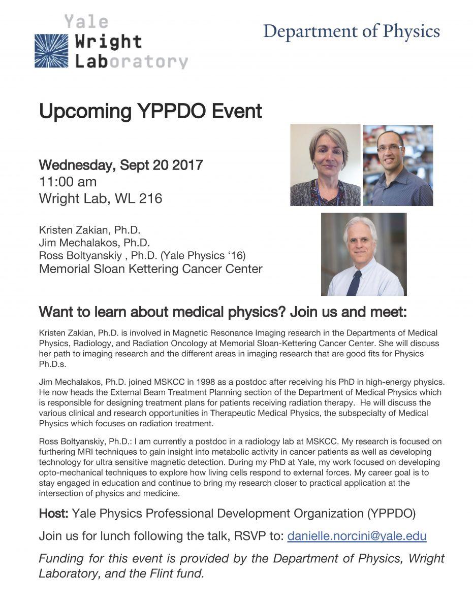 YPPDO Seminar: Kristen Zakian, Jim Mechalakos, Ross