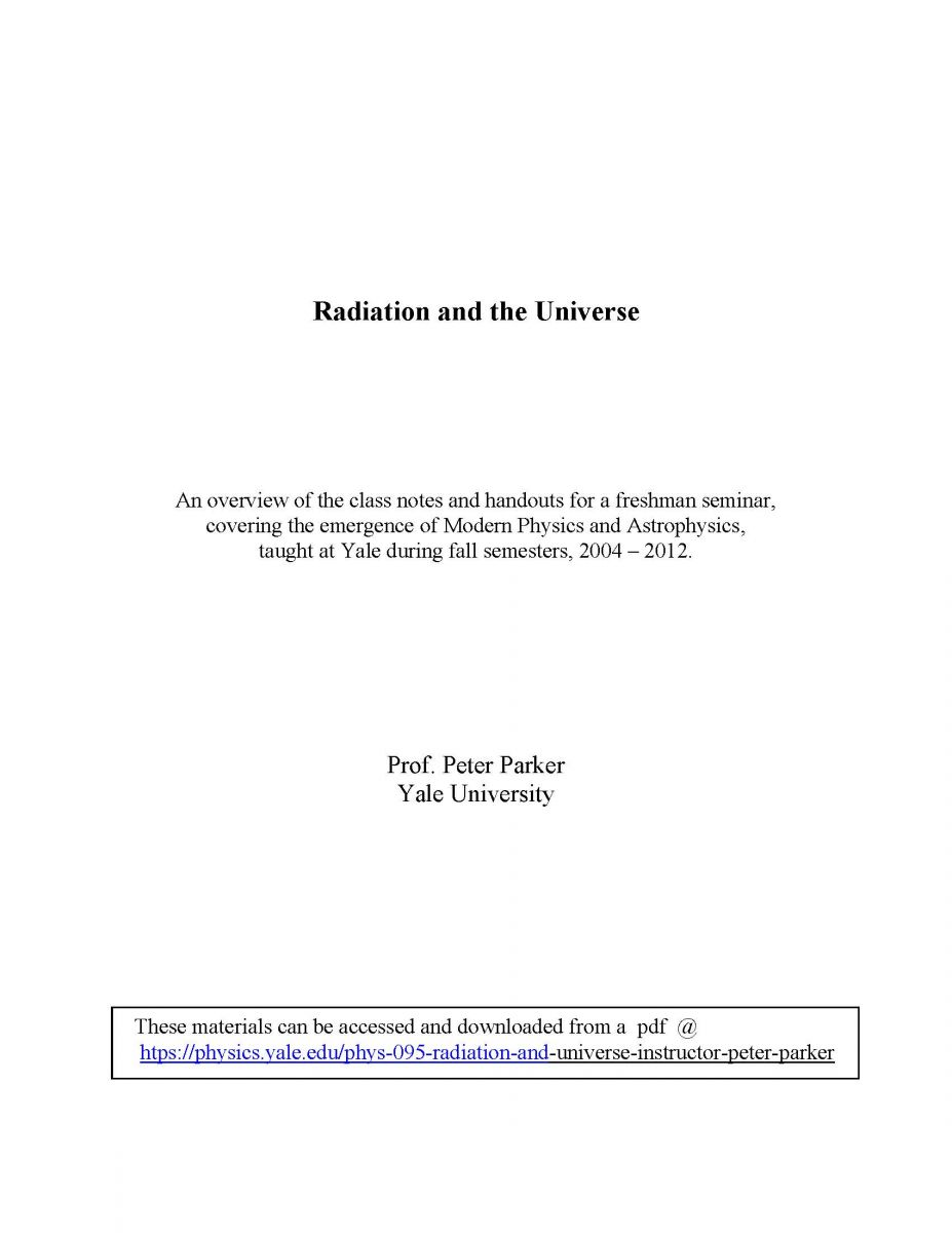 Radiation and the Universe by Peter Parker