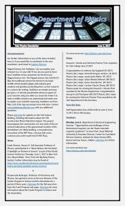 Weekly Newsletter June 2, 2017