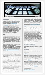 Weekly Newsletter June 9, 2017