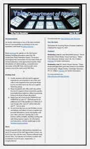 Weekly Newsletter June 16, 2017