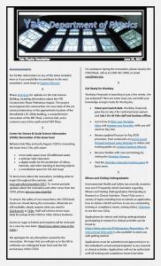 Weekly Newsletter June 23, 2017