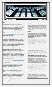 Newsletter - November 3, 2017 issue