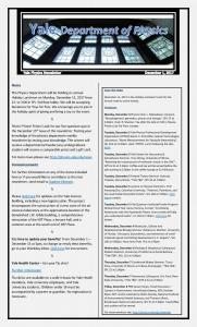 Newsletter - December 1, 2017