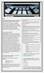 Physics Department Weekly Newsletter - July 20, 2018