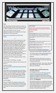 Physics Department Weekly Newsletter - August 17, 2018
