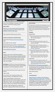 Department of Physics Weekly Newsletter - May 17, 2019