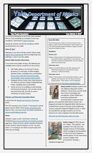 Department of Physics Weekly Newsletter - June 28-July 5, 2019