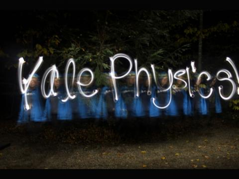 Emily Kuhn. Light painting on a fall camping trip.
