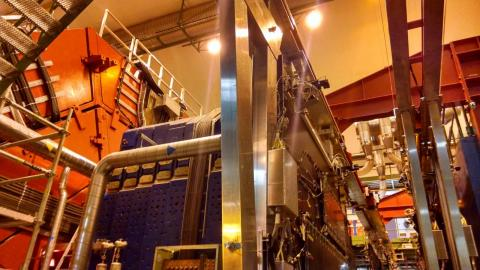 muon spectrometer of the ALICE experiment at the Large Hadron Collider. Photo by Raymond Ehlers