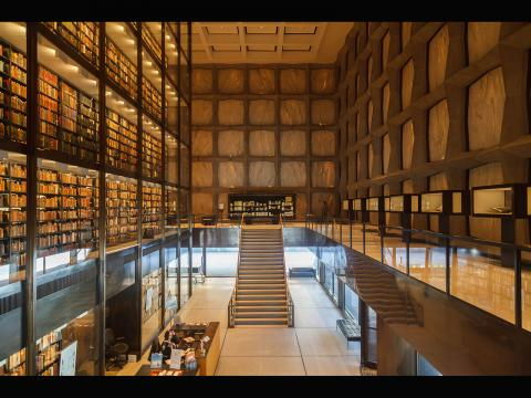 A picture of Beinecke Library, taken by George Iskander
