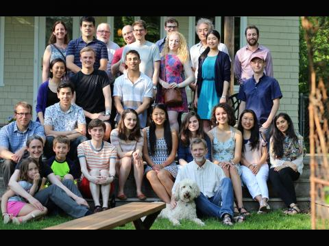 Lynne Regan. Many of the senior physics undergraduates of the Class of 2017 with faculty. Submitted by Carolyn Zhang