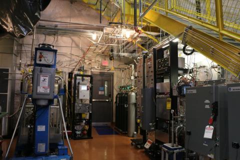 Sanford Research Lab underground lab showing the LUX gas system. Photo by Lucie Tvrznikova