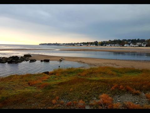 Chase Shimmin. Autumnal dusk on the beaches of West Haven.