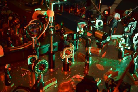 A glimpse of various elements involved in the Atomic Physics experiments conducted in Professor Jack Harris's lab. Photo by Jennifer Stergiouj